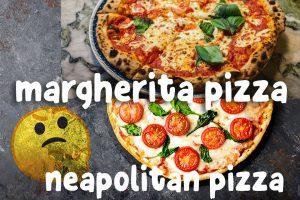 Neapolitan margherita pizza