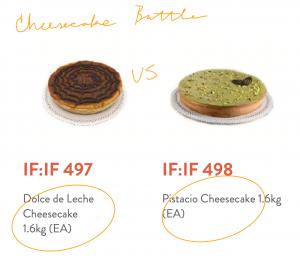 dolce de leche cheesecake vs pistacchio cheesecake